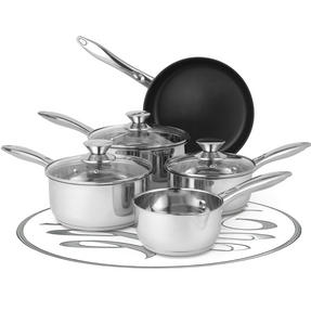 Russell Hobbs Classic Collection 6 Piece Pan Set and 28 CM Casserole Pan, Stainless Steel Thumbnail 4