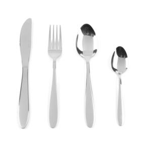 Progress Leyland Polished Stainless Steel Kitchen Dining Cutlery Set, 32 Piece Thumbnail 1