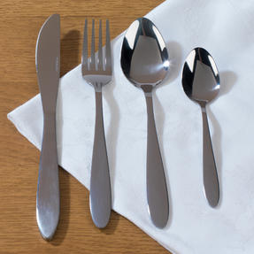 Progress Leyland Polished Stainless Steel Kitchen Dining Cutlery Set, 32 Piece Thumbnail 2