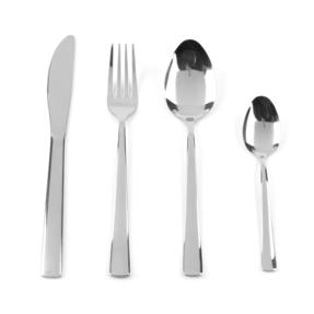 Progress Darwen Polished Stainless Steel Kitchen Dining Cutlery Set, 32 Piece