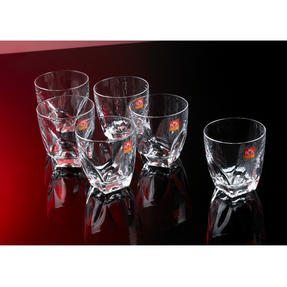 RCR COMBO-2193 Fior Di Loto Crystal Whisky Tumblers Glasses, 270 ml, Set of 24 Thumbnail 5