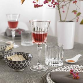 RCR COMBO-2187 Set of 6 Timeless Luxion Crystal Wine Glasses and Wine Decanter Thumbnail 2