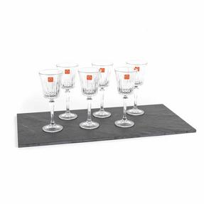 RCR COMBO-2187 Set of 6 Timeless Luxion Crystal Wine Glasses and Wine Decanter Thumbnail 8