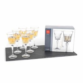RCR COMBO-2187 Set of 6 Timeless Luxion Crystal Wine Glasses and Wine Decanter Thumbnail 9