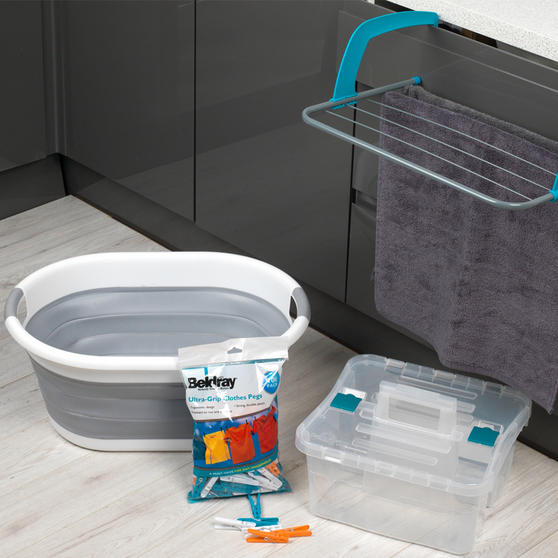 Beldray Laundry Set with Basket, Pegs, Airer and Caddy Thumbnail 2
