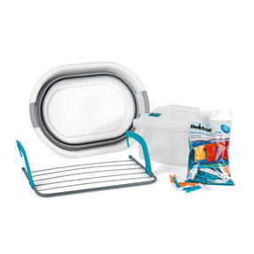 Beldray COMBO-2030 Laundry Set with Basket, Pegs, Airer and Caddy Thumbnail 1