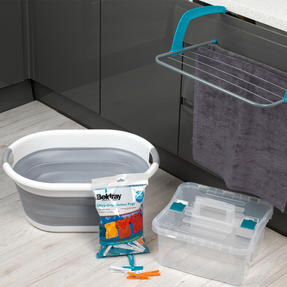 Beldray COMBO-2030 Laundry Set with Basket, Pegs, Airer and Caddy Thumbnail 2
