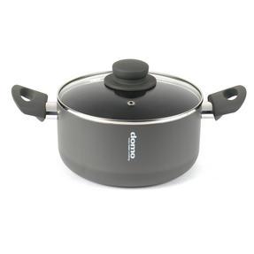Domo COMBO-2163 Saucepan, Casserole Pan and Pasta Pot Set, 16/20/24 cm, Black Thumbnail 3