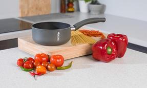 Domo COMBO-2163 Saucepan, Casserole Pan and Pasta Pot Set, 16/20/24 cm, Black Thumbnail 6