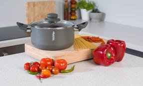 Domo COMBO-2163 Saucepan, Casserole Pan and Pasta Pot Set, 16/20/24 cm, Black Thumbnail 7
