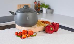 Domo COMBO-2163 Saucepan, Casserole Pan and Pasta Pot Set, 16/20/24 cm, Black Thumbnail 8
