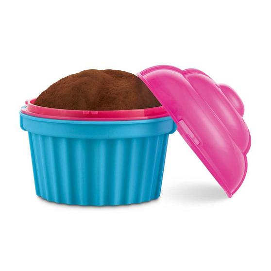 JML V03285 Zap Chef Microwave Cuppa Cake Container, Blue and Pink