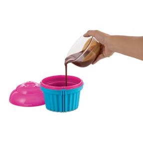 JML V03285 Zap Chef Microwave Cuppa Cake Container, Blue and Pink Thumbnail 2
