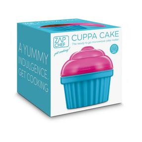 JML V03285 Zap Chef Microwave Cuppa Cake Container, Blue and Pink Thumbnail 4