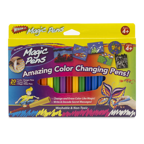 JML V13332 Magic Colour Changing and Erasing Pens, Set of 20