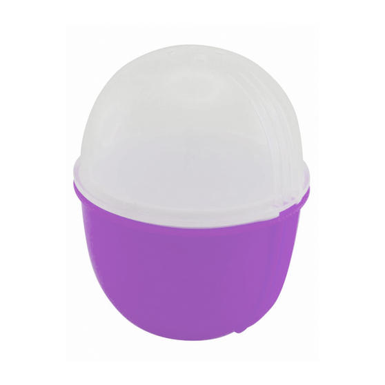 JML V03109 Crackin? Eggs Microwave Egg Cooker Boiler Poacher Scrambler, Pink Yellow or Purple