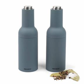 Progress COMBO-2190 Gravity Electric Salt and Pepper Mills, Grey Thumbnail 1