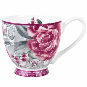 Portobello COMBO-2202 Sandringham Valentina Baroque Bone China Mugs, Set of Six Thumbnail 1