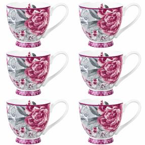 Portobello COMBO-2202 Sandringham Valentina Baroque Bone China Mugs, Set of Six Thumbnail 2
