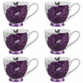 Portobello COMBO-2204 Sandringham Peony Purple Bone China Mugs, Set of 6 Thumbnail 2