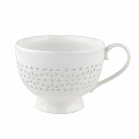 Cambridge COMBO-2206 Charlotte Sandringham Lace Porcelain China Footed Mugs, Set of 6 Thumbnail 1