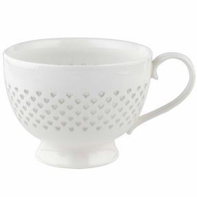 Cambridge COMBO-2207 Lace Polka Hearts Porcelain China Mugs, Set of 4 Thumbnail 1