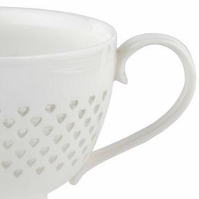 Cambridge COMBO-2207 Lace Polka Hearts Porcelain China Mugs, Set of 4 Thumbnail 3