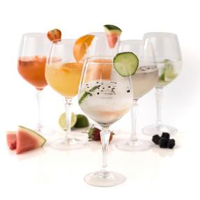 RCR COMBO-2191 Glamour Burgundy Balloon Gin Glasses, Set of 12 Thumbnail 1