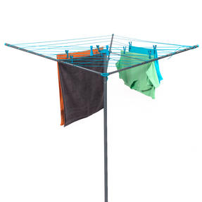 Beldray COMBO-2161 50 Metre Rotary Outdoor Clothes Airer with 10 Extra-Strength Pegs Thumbnail 1
