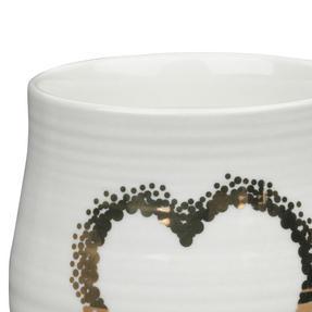 Portobello COMBO-2212 Anglesey Gold Heart Mugs, Set of 4, Cream and Gold Thumbnail 4