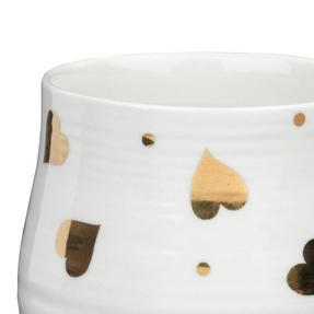 Portobello COMBO-2212 Anglesey Gold Heart Mugs, Set of 4, Cream and Gold Thumbnail 5