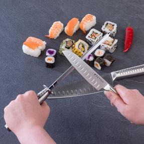 Sekitobei P500873 Knife Sharpening Honing Steel, 20cm / 7.9?, Stainless Steel Thumbnail 3