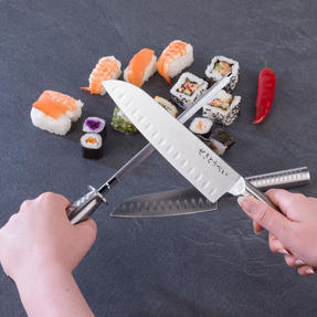 Sekitobei P500873 Knife Sharpening Honing Steel, 20cm / 7.9?, Stainless Steel Thumbnail 4