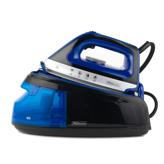 Prolectrix EF0279BGP Steam Surge Pro Iron with Continuous Steam Function, 1.2 L, 2400 W, Blue/Black