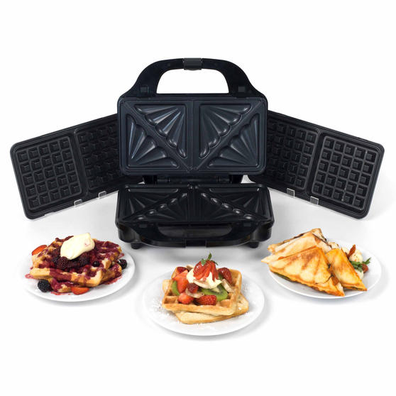 Beldray 2-in-1 Snack Maker with Sandwich and Waffle Plates