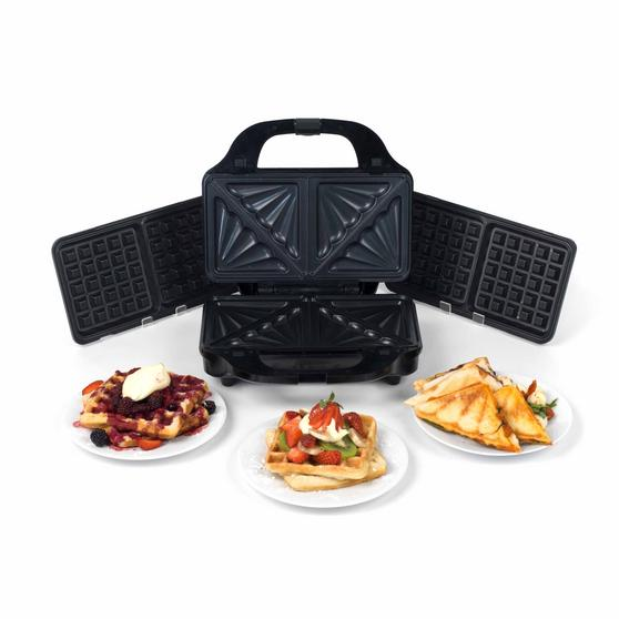 Beldray 2-in-1 Snack Maker with Sandwich and Waffle Plates Thumbnail 8
