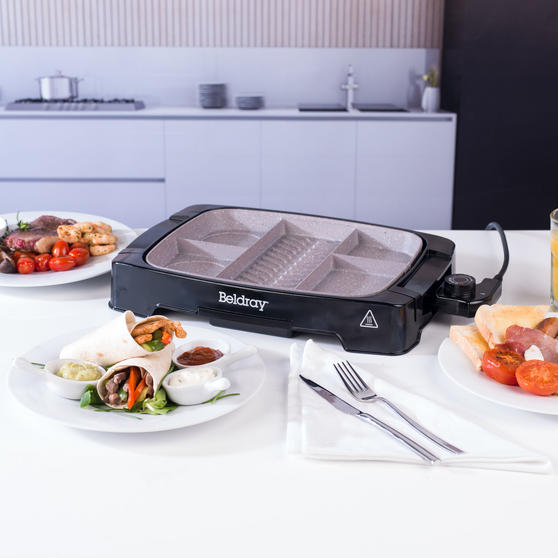 Beldray Multi-Portion 5-in-1 Grill with Non-Stick Marble Coating Thumbnail 8