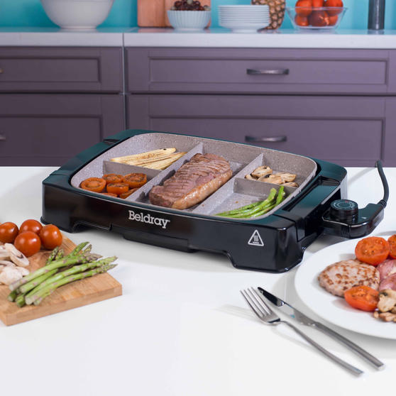 Beldray Multi-Portion 5-in-1 Grill with Non-Stick Marble Coating Thumbnail 4