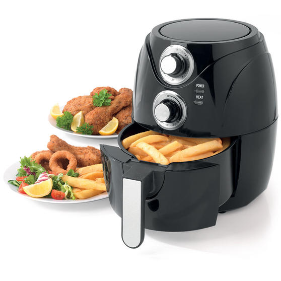 Beldray Compact Healthy Air Fryer, 2 Litre, Black Thumbnail 1