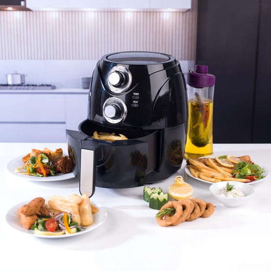 Beldray Compact Healthy Air Fryer, 2 Litre, Black Thumbnail 2