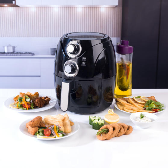 Beldray Compact Healthy Air Fryer, 2 Litre, Black Thumbnail 3