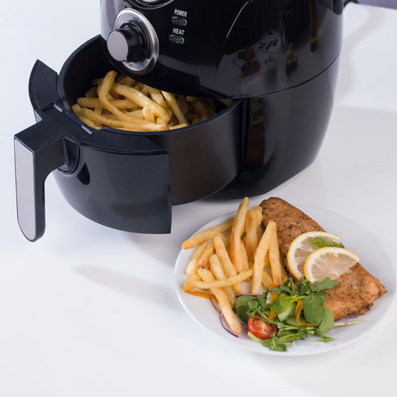 Beldray Compact Healthy Air Fryer, 2 Litre, Black Thumbnail 6