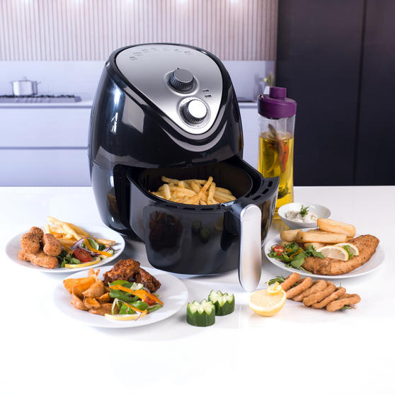 Beldray Large Healthy Air Fryer, 3.2 Litre, Black Thumbnail 2