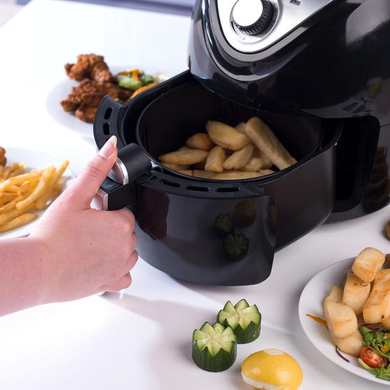 Beldray Large Healthy Air Fryer, 3.2 Litre, Black Thumbnail 5