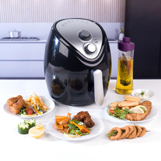 Beldray Large Healthy Air Fryer, 3.2 Litre, Black Thumbnail 7