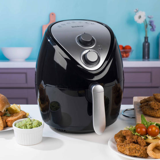 Beldray Large Healthy Air Fryer with 30 Minute Timer, 3.2 Litre, Black Thumbnail 3