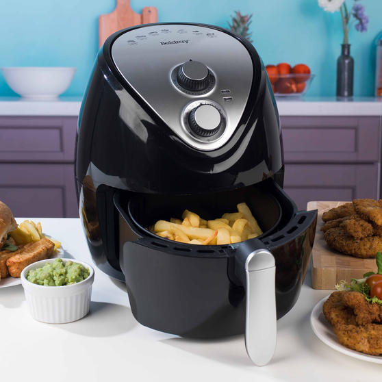 Beldray Large Healthy Air Fryer with 30 Minute Timer, 3.2 Litre, Black Thumbnail 5