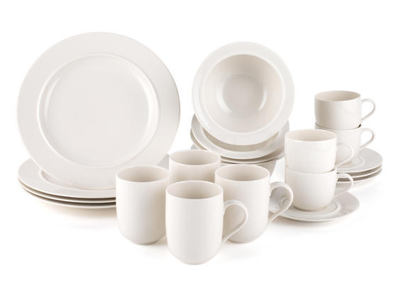 Alessi La Bella Tavola Porcelain 4-Place Setting Breakfast and Dinner Dining Set