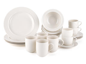 Alessi La Bella Tavola Porcelain 4-Place Setting Breakfast and Dinner Dining Set Thumbnail 1