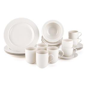 Alessi La Bella Tavola Porcelain 4-Place Setting Breakfast and Dinner Dining Set Thumbnail 1
